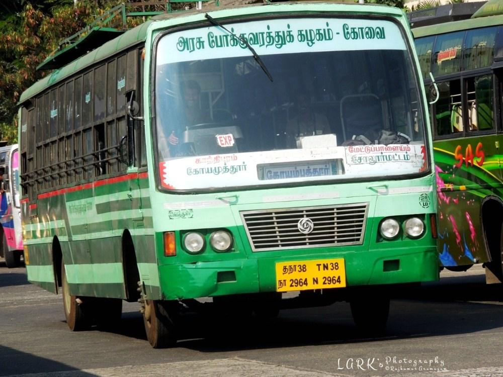 TNSTC TN38 N 2964 Coimbatore - Sholurmattam