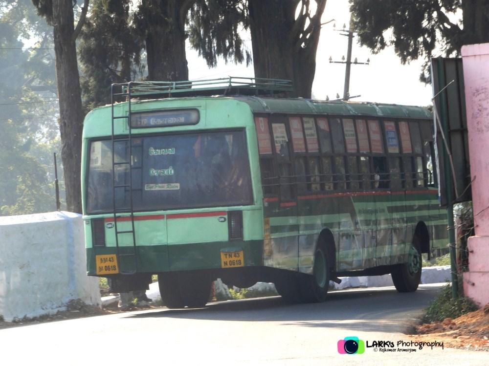 TNSTC TN 43 N 0618 Ooty - Coimbatore - Salem