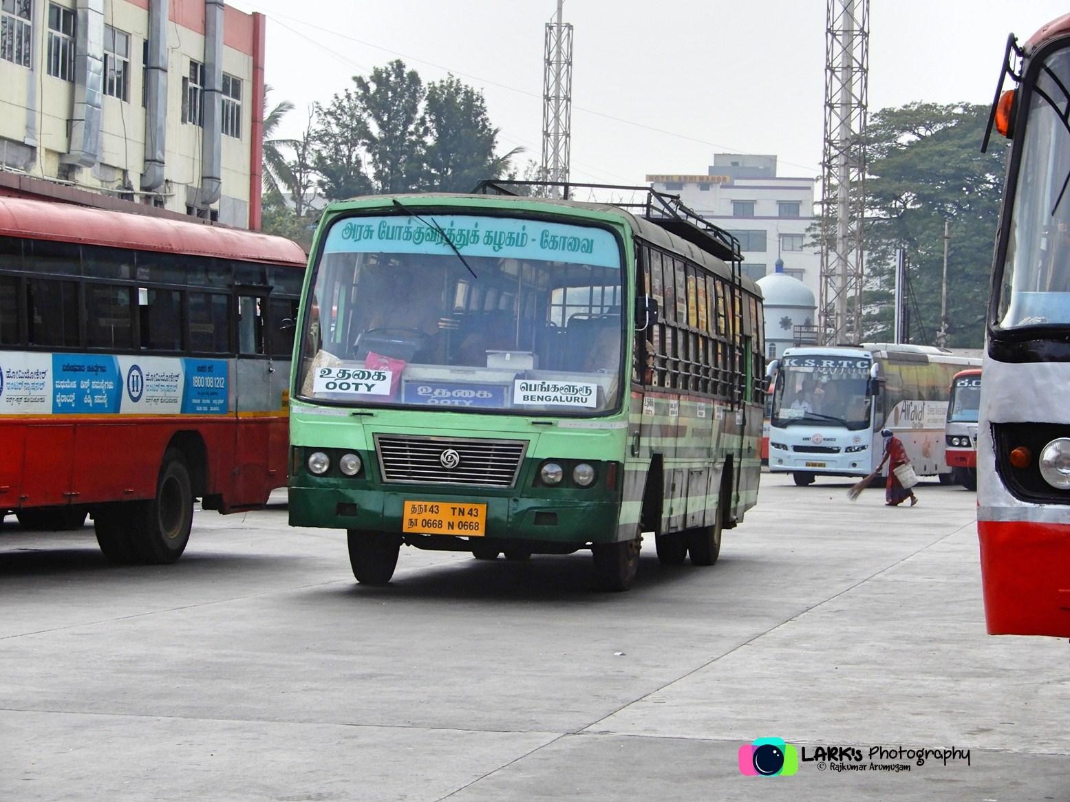 Ooty – Bangalore – [TN 43 N 0668]