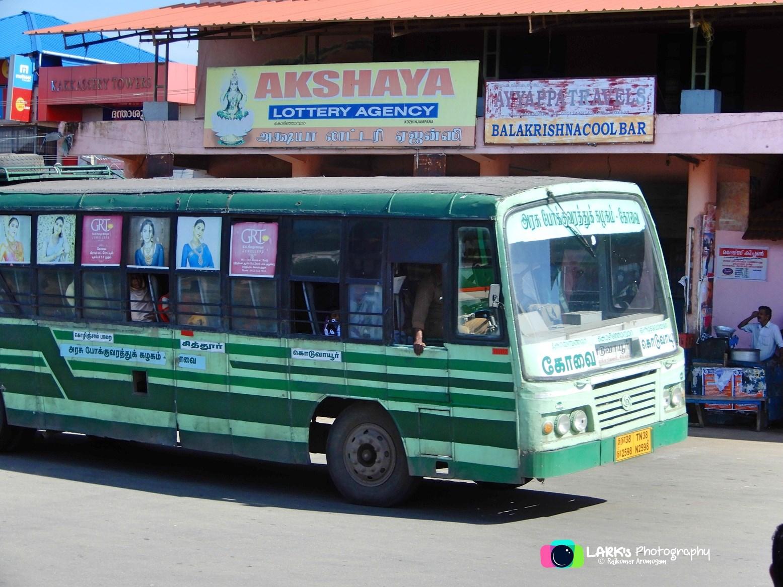 TNSTC TN 38 N 2598 Coimbatore - Koduvayur