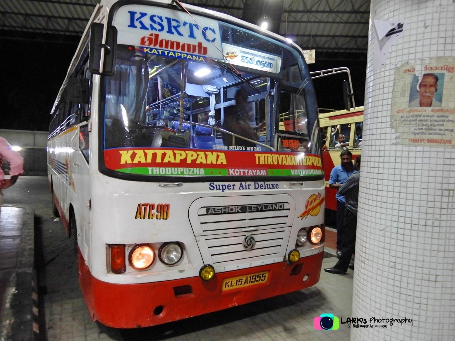 KSRTC – Thiruvananthapuram – Kattappana – [ATC98] – Ticket to Get Lost